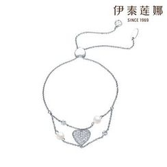 Italina - Rhinestone Heart Bracelet