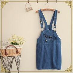 Fairyland - Applique Denim Jumper Skirt
