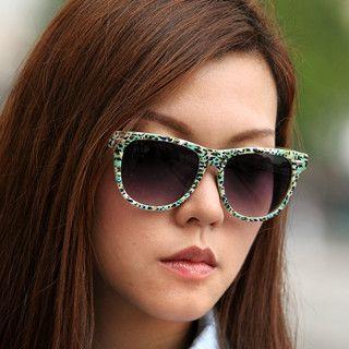 59 Seconds - Glitter Detail Printed Sunglasses