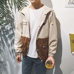 Arthur Look - Color Block Hooded Jacket