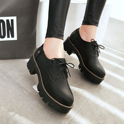 Pretty in Boots - Platform Lace Ups