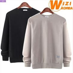 WIZIKOREA - Polar-Fleece Sweatshirt
