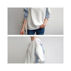 LEELIN - Color-Block Sweatshirt