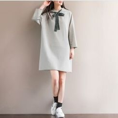 Fancy Show - Hooded Drawstring Pullover Dress
