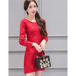 Eighoo - Long Sleeve Sheath Lace Dress
