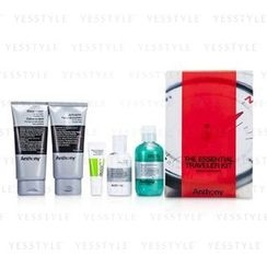 Anthony - Logistics For Men The Essential Traveler Kit: Cleanser 60ml/2oz + Mositurizer 90ml/3oz + Lip Blam 7g/0.25oz + Shave Cream 90ml/3oz + Hair and Body Wash 100ml/3.4oz