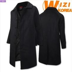 WIZIKOREA - Raglan-Sleeve Hidden-Button Coat