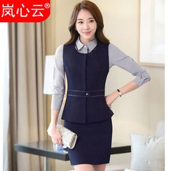 Skyheart - Plain Vest / Blazer / Dress Shirt / Set: Vest + Dress Pants / Skirt