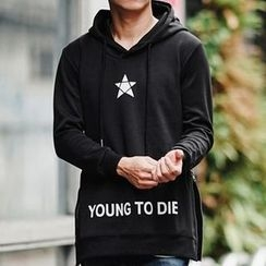 SeventyAge - Star Printed Hooded Pullover