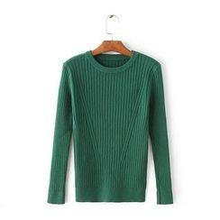 Blue Rose - Long-Sleeve Knit Top