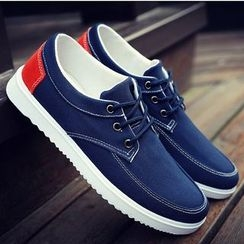 Tabris - Lace-Up Canvas Casual Shoes