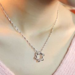 Kitty Kiss - 925 Sterling Silver Star Pendant Necklace
