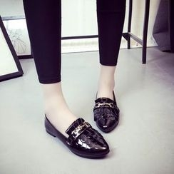 MANMANNI - Fringed Patent Loafers