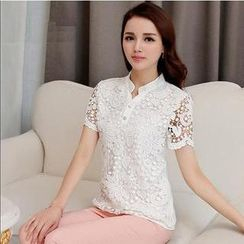Calana - Short-Sleeve Lace Shirt