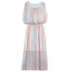 Sentubila - Print Midi Chiffon Dress