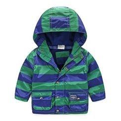 貝殼童裝 - 小童撞色連帽外套