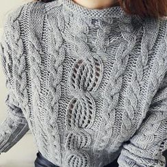 NANING9 - Cable-Knit Sweater