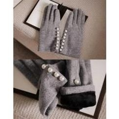 cherry spoon - Beaded-Accent Gloves