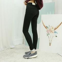 Dodostyle - Brushed Fleece Skinny Pants
