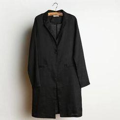 JVL - Single-Button Slit-Back Trench Coat