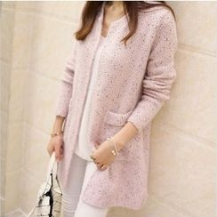 Dream a Dream - Mélange Open Front Cardigan
