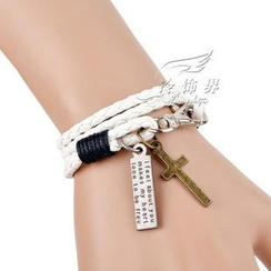 Trend Cool - Cross Charm Braided Bracelet