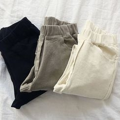NANING9 - Elastic-Waist Pants