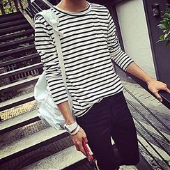 ZIXXIONA - Stripe Long-Sleeve T-Shirt
