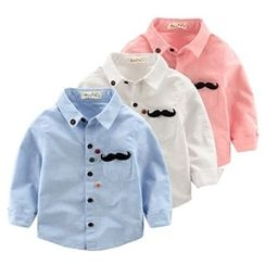 Kido - Kids Mustache Accent Shirt
