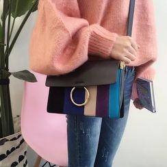 YUKISHU - Color Block Shoulder Bag
