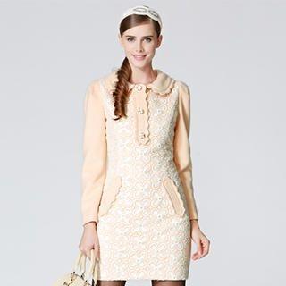 O.SA - Crochet-Panel Dress