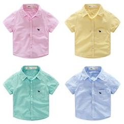 WellKids - Kids Short-Sleeve Pocket-Accent Shirt
