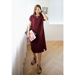 REDOPIN - Short-Sleeve Shift Dress