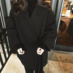 QZ Lady - Plain Woolen Kimono Jacket