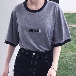 Dasim - Fray Hem A-Line Mini Denim Skirt