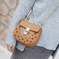Youshine - Studded Chain Strap Crossbody Bag