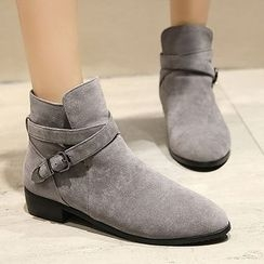 Gizmal Boots - Buckled Ankle Boots
