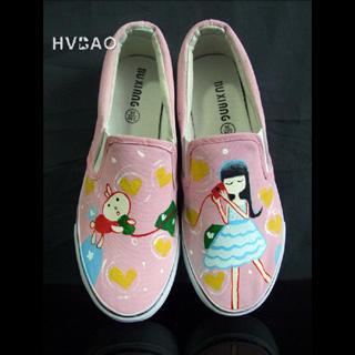 HVBAO - 'Sweet Dream' Canvas Slip-Ons
