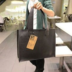 BagBuzz - Set: Faux Leather Tote + Pouch