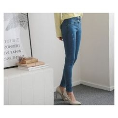 demavie - Washed Skinny Jeans