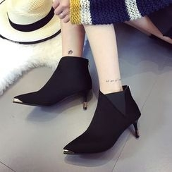 Yoflap - Pointed Heeled Ankle Boots