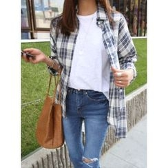 hellopeco - Plaid Cotton Shirt