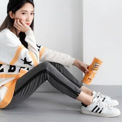 OrangeBear - Varsity-Striped Sweatpants