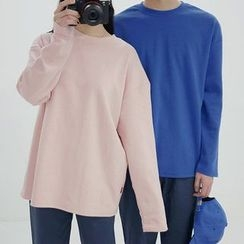 Seoul Homme - Couple Colored Long-Sleeve T-Shirt