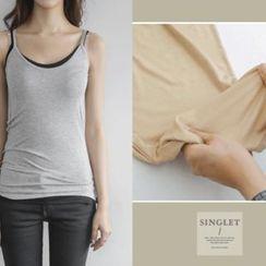 JUSTONE - Slim-Fit Elastic Camisole Top