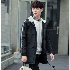 Fisen - Striped Hooded Jacket
