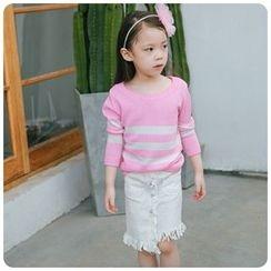 Rakkaus - Kids Striped Knit Top