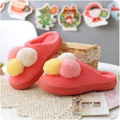 VANDO - Pompom-Detail Slippers