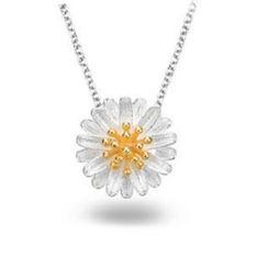 Zundiao - Sterling Silver Daisy Necklace