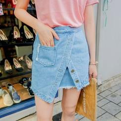 Deerie - 裹式牛仔布裙